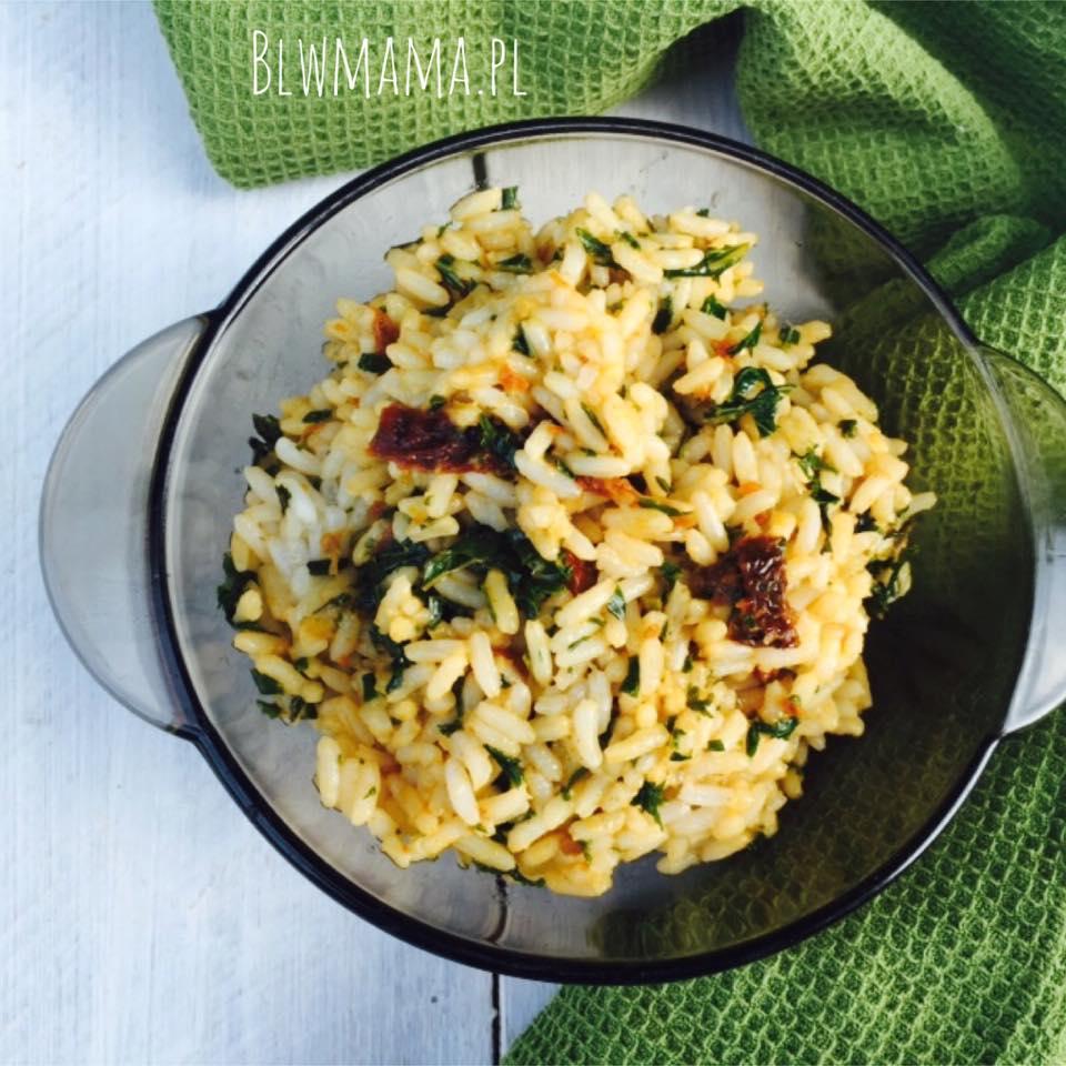 Ryż z jarmużem. BLW