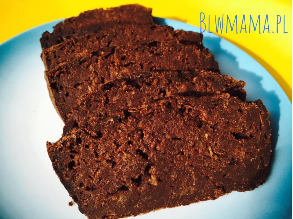 Czekoladowe ciasto z cukinią. Bezglutenowe BLW.