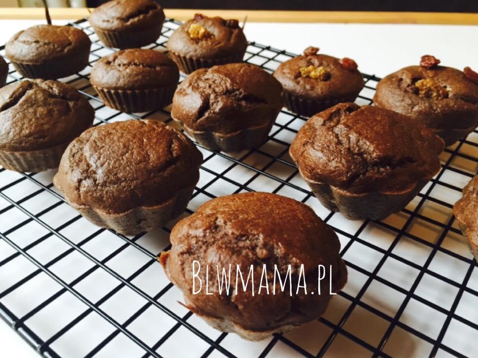 Bananowe muffiny śniadaniowe. Czekoladowy raj. BLW