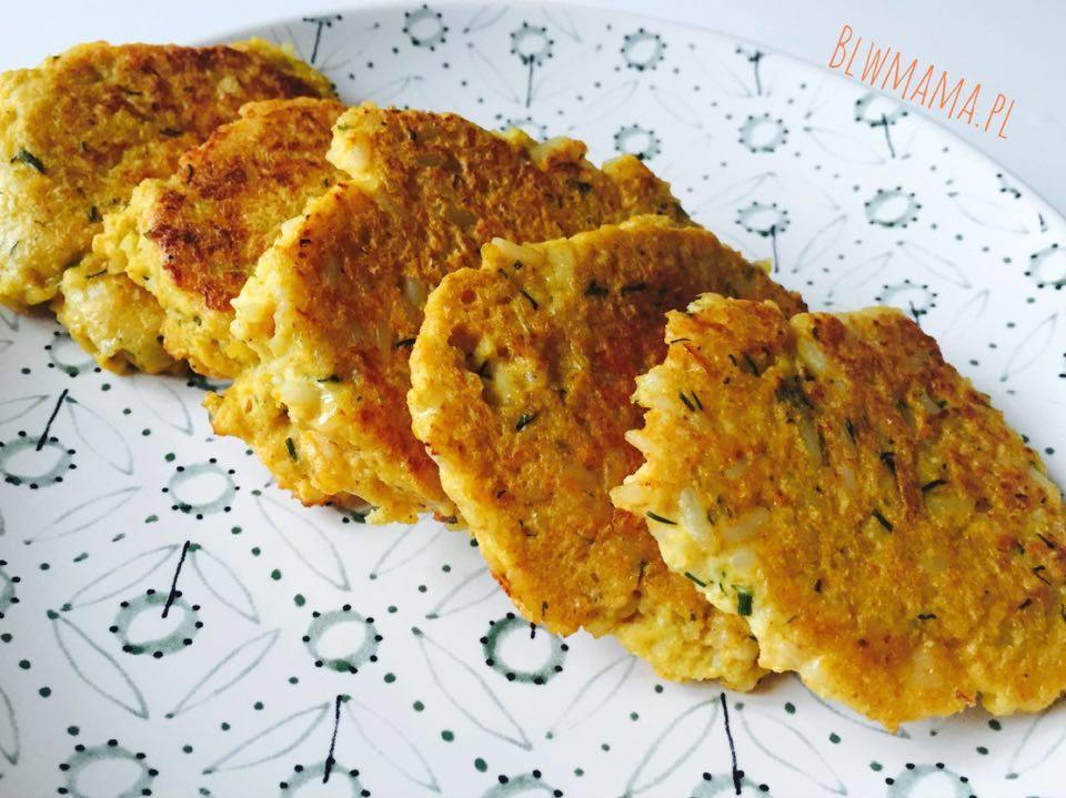 Cauliflower & rice pancakes. Easy! BLW