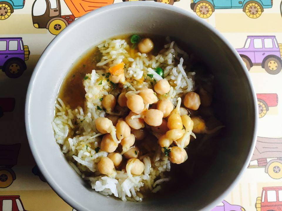 Łatwa zupa z ciecierzycą. BLW