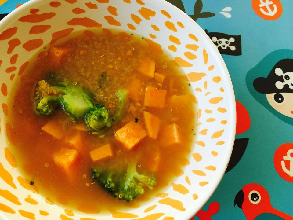Vegetable soup with quinoa. Easy & nutrient dense. BLW