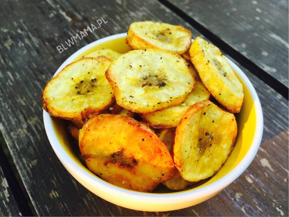 Plantain chips. Delicious, simple & healthy snack. BLW