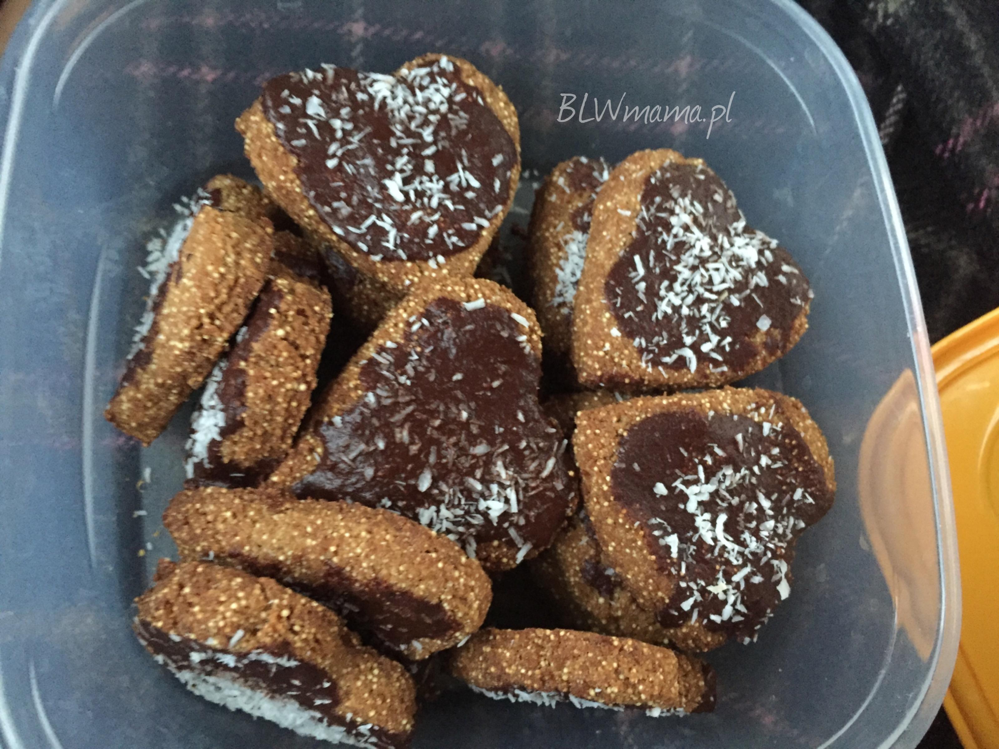 Kruche ciasteczka amarantusowo-kokosowe. BLW