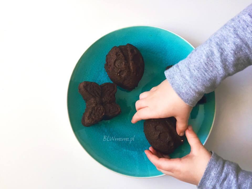 Muffinki czekoladowe buraczano – gruszkowe. BLW