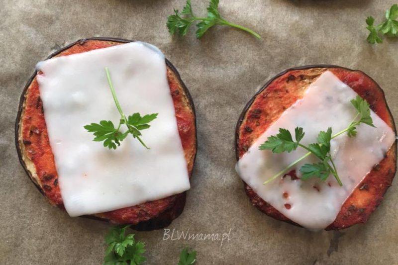 Ekspresowe mini pizze z bakłażana. BLW