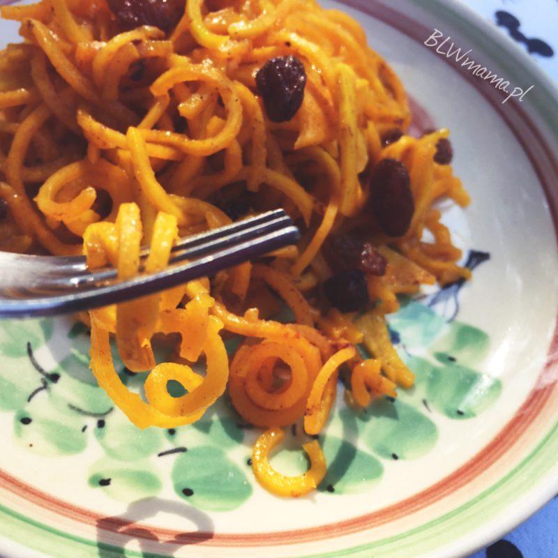 Nitki z dyni lub marchewki na słodko. BLW