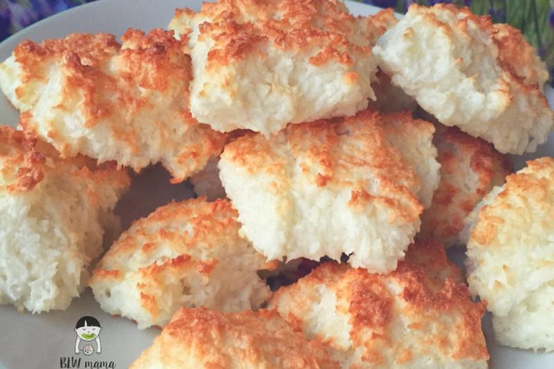 Kokosanki na białkach, bez mąki.
