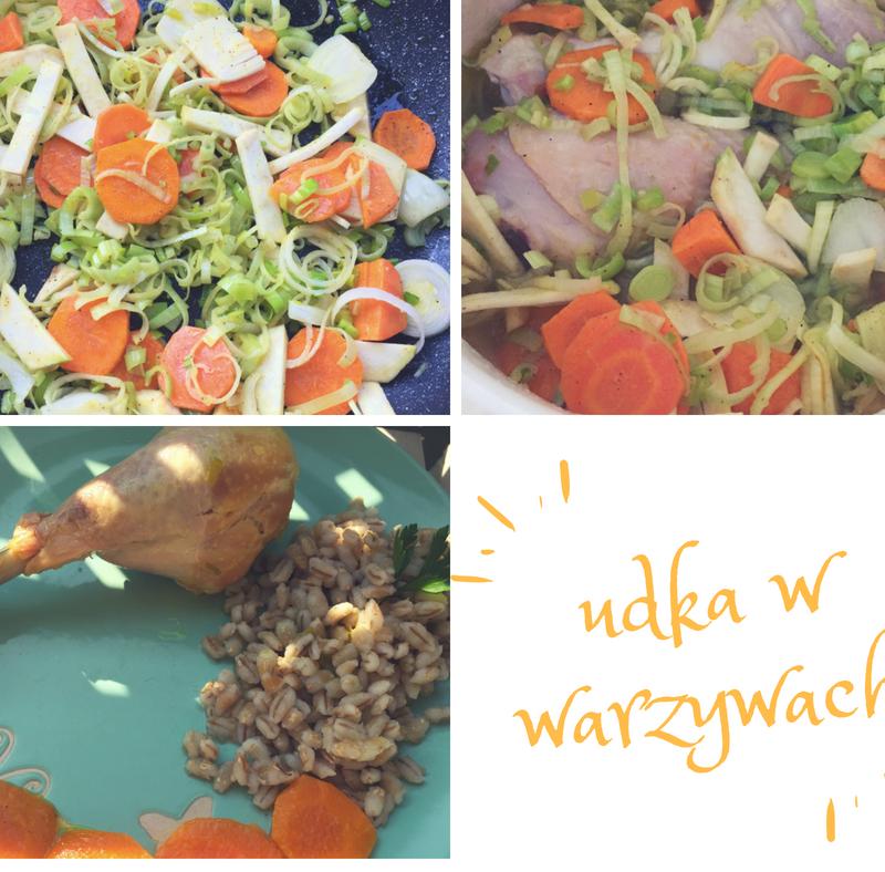 Udka kurczaka duszone w warzywach. BLW